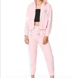 LF the Brand baby pink windbreaker tracksuit
